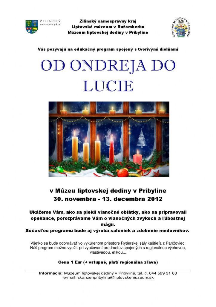 Od Ondrea do Lucie