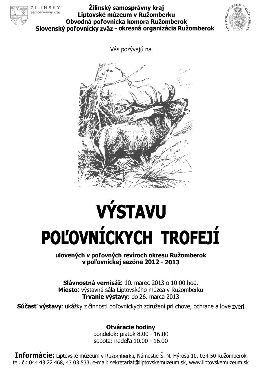 Chovateľská prehliadka poľovníckych trofejí - náhľad