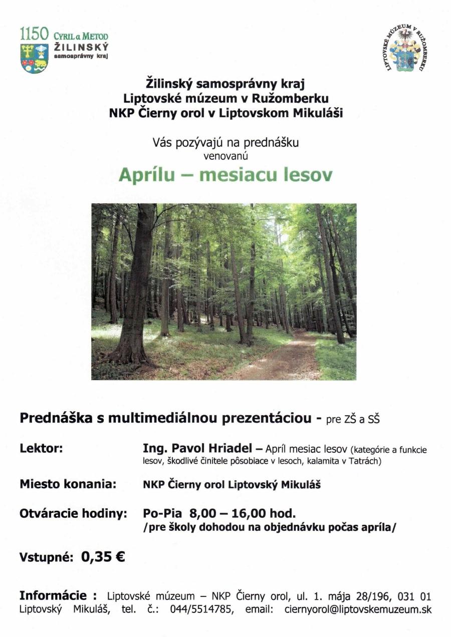 Apríl mesiac lesov 2013